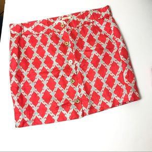 Kate Spade a-line mini skirt silk linen Sandra